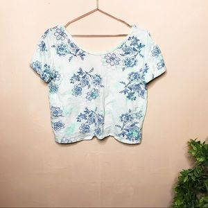 Urban Outfitters Ecote floral stamped crop top